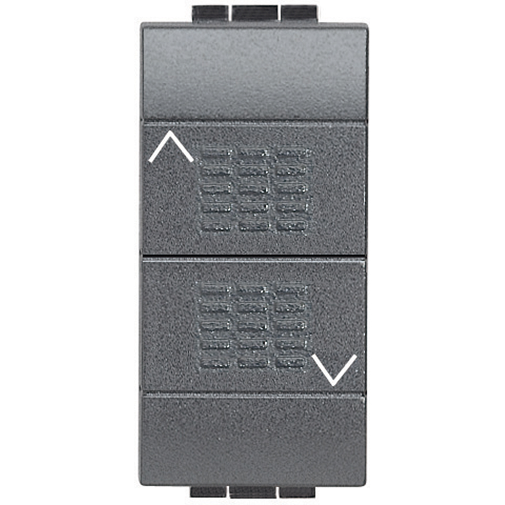 Schema Elettrico Per Tapparelle : Pulsante saliscendi per serrande elettriche serie living bticino